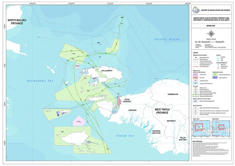 National Strategic Area Zoning Plan for the biodiversity conservation area of Raja Ampat